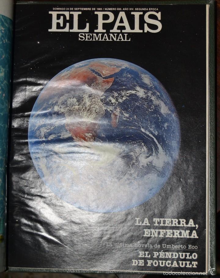 Coleccionismo de Periódico El País: 1 TOMO ENCUADERNADO DOMINICAL DIARIO EL PAIS Nº 638 A 650 AÑO 02-07 A 24-09 DEL AÑO 1989.12 NUMEROS - Foto 23 - 58540575