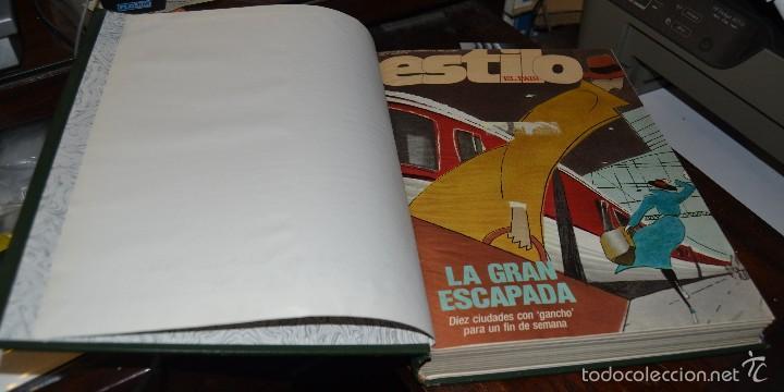 Coleccionismo de Periódico El País: SUPLEMENTO ESTILO DE EL PAIS . NUM 76 A 88 DEL AÑO 1990. ENCUADERNADO MOIRE EDITORIAL CON DORADOS - Foto 3 - 58577475