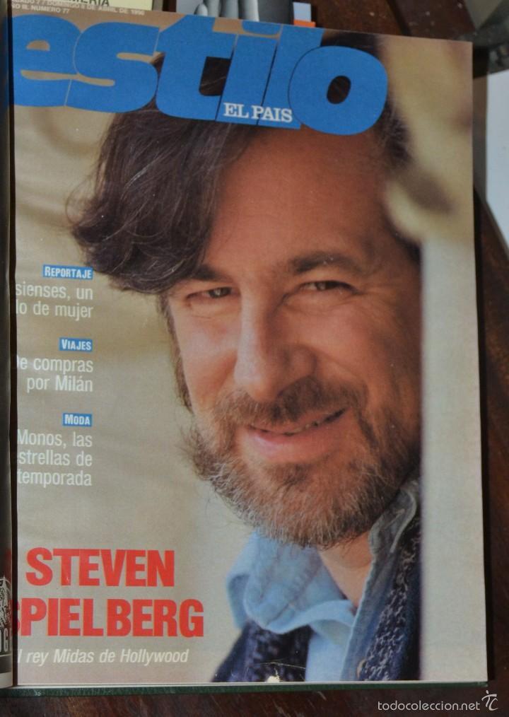 Coleccionismo de Periódico El País: SUPLEMENTO ESTILO DE EL PAIS . NUM 76 A 88 DEL AÑO 1990. ENCUADERNADO MOIRE EDITORIAL CON DORADOS - Foto 4 - 58577475