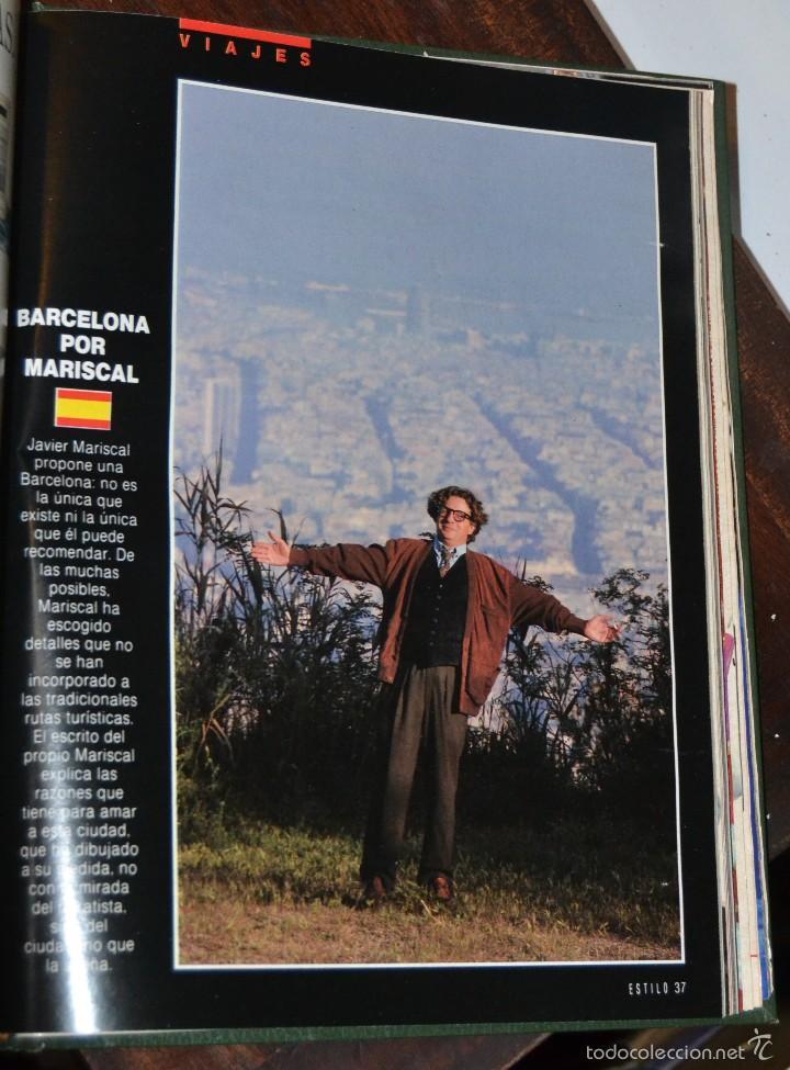 Coleccionismo de Periódico El País: SUPLEMENTO ESTILO DE EL PAIS . NUM 76 A 88 DEL AÑO 1990. ENCUADERNADO MOIRE EDITORIAL CON DORADOS - Foto 11 - 58577475