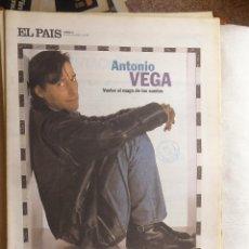 Coleccionismo de Periódico El País: EL PAIS DE LAS TENTACIONES. ANTONIO VEGA. Lote 59932135