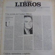 Coleccionismo de Periódico El País: LIBROS. SUPLEMENTO EL PAÍS. AÑO II Nº 53. 1980. Lote 60919511