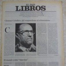 Coleccionismo de Periódico El País: LIBROS. SUPLEMENTO EL PAÍS. AÑO II Nº 54. 1980. Lote 60919559