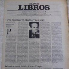Coleccionismo de Periódico El País: LIBROS. SUPLEMENTO EL PAÍS. AÑO II Nº 57. 1980. Lote 60919859