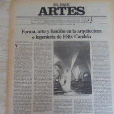 Coleccionismo de Periódico El País: ARTES. SUPLEMENTO EL PAÍS. AÑO II Nº 11. 1980. Lote 60951127