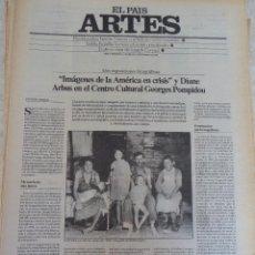 Coleccionismo de Periódico El País: ARTES. SUPLEMENTO EL PAÍS. AÑO II Nº 16. 1980. Lote 60951319