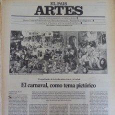 Coleccionismo de Periódico El País: ARTES. SUPLEMENTO EL PAÍS. AÑO II Nº 17. 1980. Lote 60951415