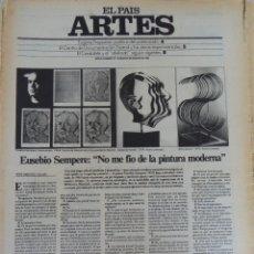 Coleccionismo de Periódico El País: ARTES. SUPLEMENTO EL PAÍS. AÑO II Nº 19. 1980. Lote 60951555
