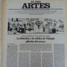 Coleccionismo de Periódico El País: ARTES. SUPLEMENTO EL PAÍS. AÑO II Nº 21. 1980. Lote 60951651