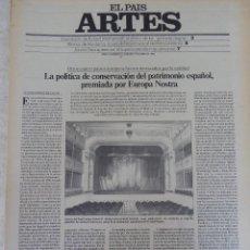 Coleccionismo de Periódico El País: ARTES. SUPLEMENTO EL PAÍS. AÑO II Nº 25. 1980. Lote 60951851
