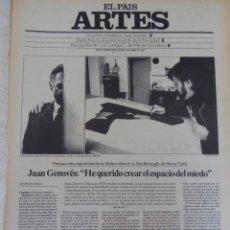 Coleccionismo de Periódico El País: ARTES. SUPLEMENTO EL PAÍS. AÑO II Nº 26. 1980. Lote 60951911