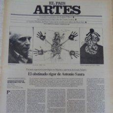 Coleccionismo de Periódico El País: ARTES. SUPLEMENTO EL PAÍS. AÑO II Nº 29. 1980. Lote 60952767