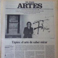 Coleccionismo de Periódico El País: ARTES. SUPLEMENTO EL PAÍS. AÑO II Nº 32. 1980. Lote 60953055