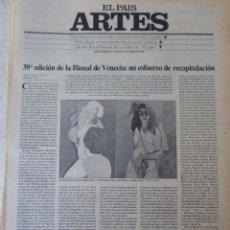 Coleccionismo de Periódico El País: ARTES. SUPLEMENTO EL PAÍS. AÑO II Nº 33. 1980. Lote 60953103