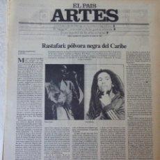 Coleccionismo de Periódico El País: ARTES. SUPLEMENTO EL PAÍS. AÑO II Nº 34. 1980. Lote 60953147