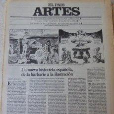 Coleccionismo de Periódico El País: ARTES. SUPLEMENTO EL PAÍS. AÑO II Nº 37. 1980. Lote 60953287
