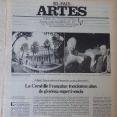 Coleccionismo de Periódico El País: ARTES. SUPLEMENTO EL PAÍS. AÑO II Nº 40. 1980. Lote 60953451