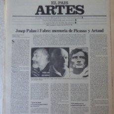 Coleccionismo de Periódico El País: ARTES. SUPLEMENTO EL PAÍS. AÑO II Nº 43. 1980. Lote 60953555