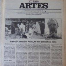 Coleccionismo de Periódico El País: ARTES. SUPLEMENTO EL PAÍS. AÑO II Nº 44. 1980. Lote 60953571