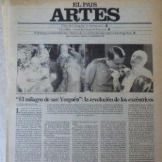 Coleccionismo de Periódico El País: ARTES. SUPLEMENTO EL PAÍS. AÑO II Nº 45. 1980. Lote 60953591