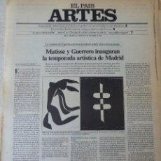 Coleccionismo de Periódico El País: ARTES. SUPLEMENTO EL PAÍS. AÑO II Nº 46. 1980. Lote 60953615