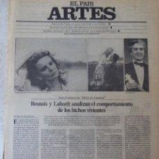 Coleccionismo de Periódico El País: ARTES. SUPLEMENTO EL PAÍS. AÑO II Nº 48. 1980. Lote 60953675