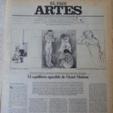 Coleccionismo de Periódico El País: ARTES. SUPLEMENTO EL PAÍS. AÑO II Nº 49. 1980. Lote 60953691