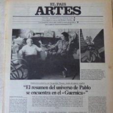 Coleccionismo de Periódico El País: ARTES. SUPLEMENTO EL PAÍS. AÑO II Nº 55. 1980. Lote 60953795