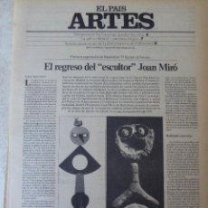 Coleccionismo de Periódico El País: ARTES. SUPLEMENTO EL PAÍS. AÑO II Nº 56. 1980. Lote 60953823