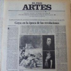 Coleccionismo de Periódico El País: ARTES. SUPLEMENTO EL PAÍS. AÑO II Nº 57. 1980. Lote 60953847