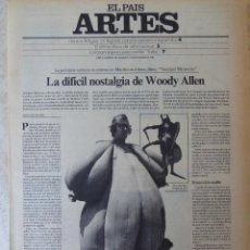 Coleccionismo de Periódico El País: ARTES. SUPLEMENTO EL PAÍS. AÑO II Nº 58. 1980. Lote 60953871
