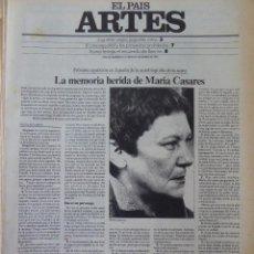 Coleccionismo de Periódico El País: ARTES. SUPLEMENTO EL PAÍS. AÑO III Nº 61. 1981. Lote 60954071