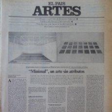 Coleccionismo de Periódico El País: ARTES. SUPLEMENTO EL PAÍS. AÑO III Nº 64. 1981. Lote 60954191