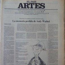 Coleccionismo de Periódico El País: ARTES. SUPLEMENTO EL PAÍS. AÑO III Nº 66. 1981. Lote 60954259