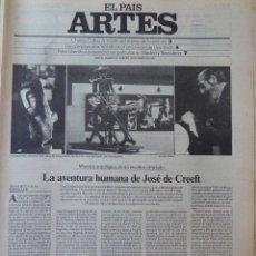 Coleccionismo de Periódico El País: ARTES. SUPLEMENTO EL PAÍS. AÑO III Nº 67. 1981. Lote 60954271