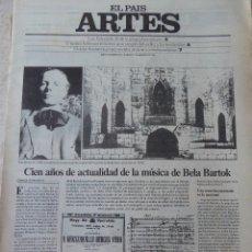Coleccionismo de Periódico El País: ARTES. SUPLEMENTO EL PAÍS. AÑO III Nº 70. 1981. Lote 60954355