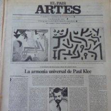 Coleccionismo de Periódico El País: ARTES. SUPLEMENTO EL PAÍS. AÑO III Nº 71. 1981. Lote 60954411