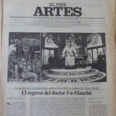 Coleccionismo de Periódico El País: ARTES. SUPLEMENTO EL PAÍS. AÑO III Nº 72. 1981. Lote 60954443