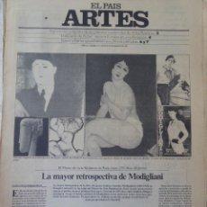 Coleccionismo de Periódico El País: ARTES. SUPLEMENTO EL PAÍS. AÑO III Nº 73. 1981. Lote 60954515