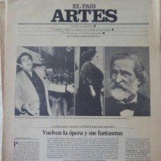 Coleccionismo de Periódico El País: ARTES. SUPLEMENTO EL PAÍS. AÑO III Nº 74. 1981. Lote 60954531