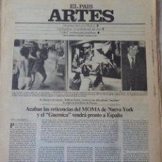 Coleccionismo de Periódico El País: ARTES. SUPLEMENTO EL PAÍS. AÑO III Nº 75. 1981. Lote 60954559