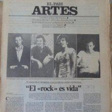 Coleccionismo de Periódico El País: ARTES. SUPLEMENTO EL PAÍS. AÑO III Nº 77. 1981. Lote 60954587