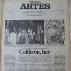 Coleccionismo de Periódico El País: ARTES. SUPLEMENTO EL PAÍS. AÑO III Nº 81. 1981. Lote 60954663