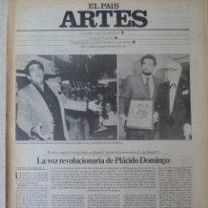 Coleccionismo de Periódico El País: ARTES. SUPLEMENTO EL PAÍS. AÑO III Nº 82. 1981. Lote 60954703