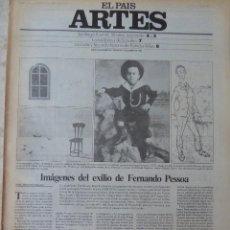 Coleccionismo de Periódico El País: ARTES. SUPLEMENTO EL PAÍS. AÑO III Nº 84. 1981. Lote 60954731