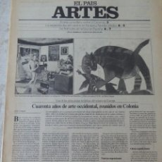 Coleccionismo de Periódico El País: ARTES. SUPLEMENTO EL PAÍS. AÑO III Nº 85. 1981. Lote 60954767