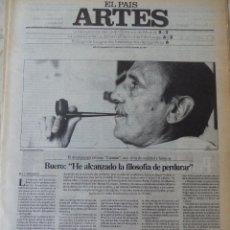 Coleccionismo de Periódico El País: ARTES. SUPLEMENTO EL PAÍS. AÑO III Nº 95. 1981. Lote 60954791