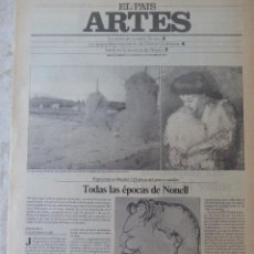 Coleccionismo de Periódico El País: ARTES. SUPLEMENTO EL PAÍS. AÑO III Nº 101. 1981. Lote 60954807