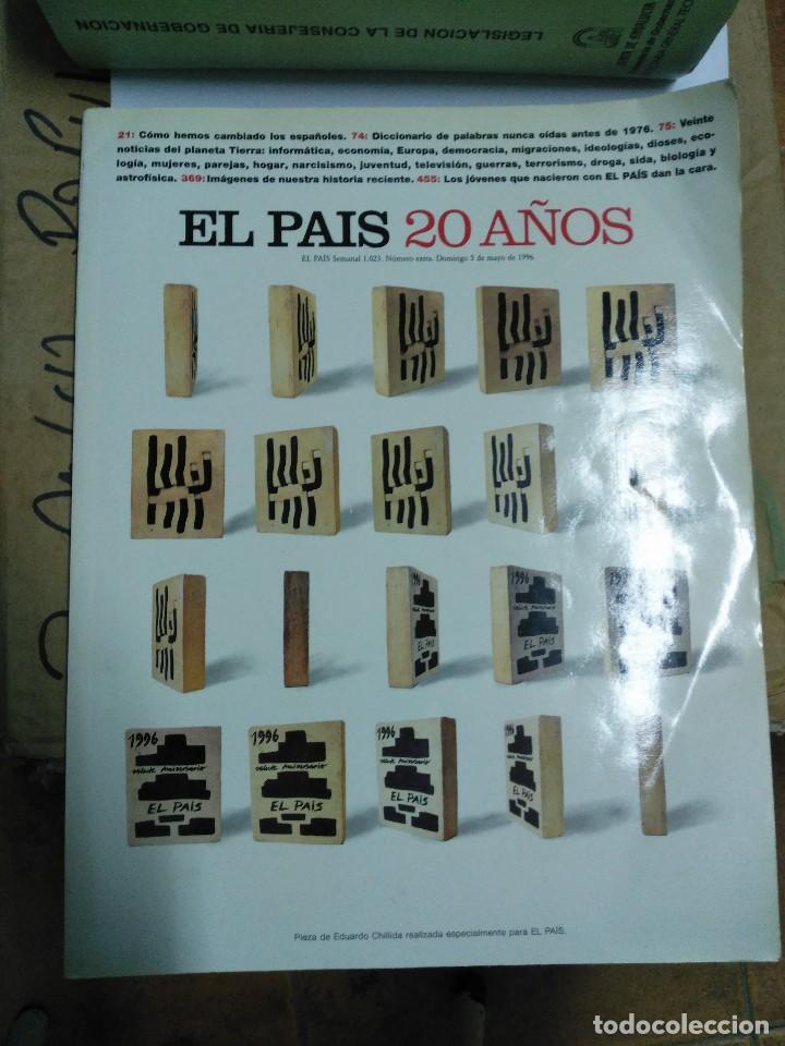 ESPECIAL EL PAIS 20 AÑOS (Coleccionismo - Revistas y Periódicos Modernos (a partir de 1.940) - Periódico El Páis)