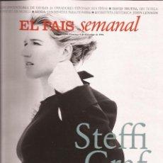 Coleccionismo de Periódico El País: STEFFI GRAF, EL PAÍS SEMANAL, Nº 1.054, 8 DICIEMBRE 1996. Lote 64424119